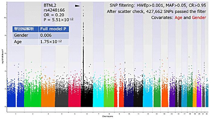 図2 HBワクチン高反応群と低反応群を対象としたGWAS